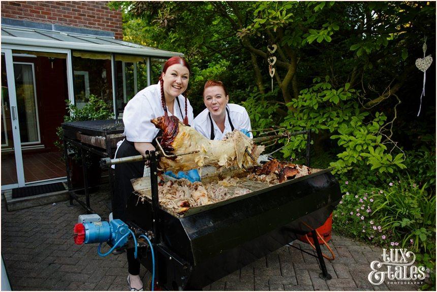 Hog roast at Altrincham wedding