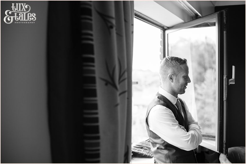 Groom preparation wedding photography