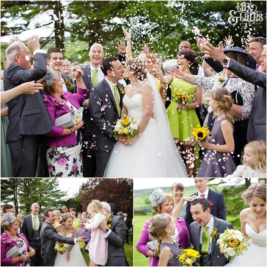 Confetti at Taitlands Wedding