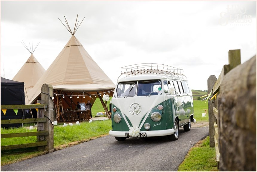 VW Van tipi at Newton Grange Wedding photography