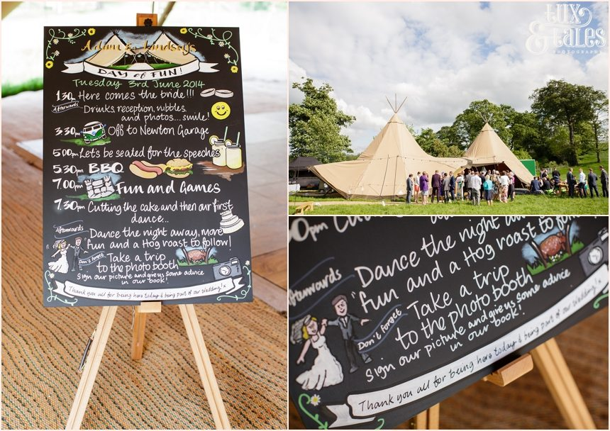 Festival tipi themed wedding