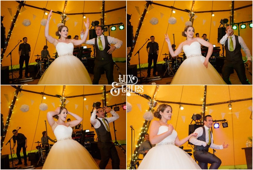 Wedding photographer at Newton Grange funny first dance photos