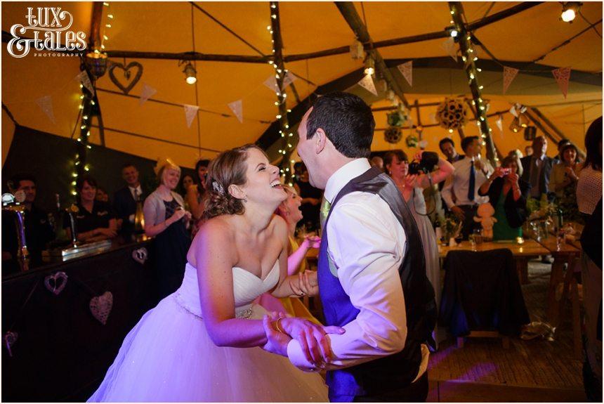 First dance at Fesitval themed wedding Newton Grange