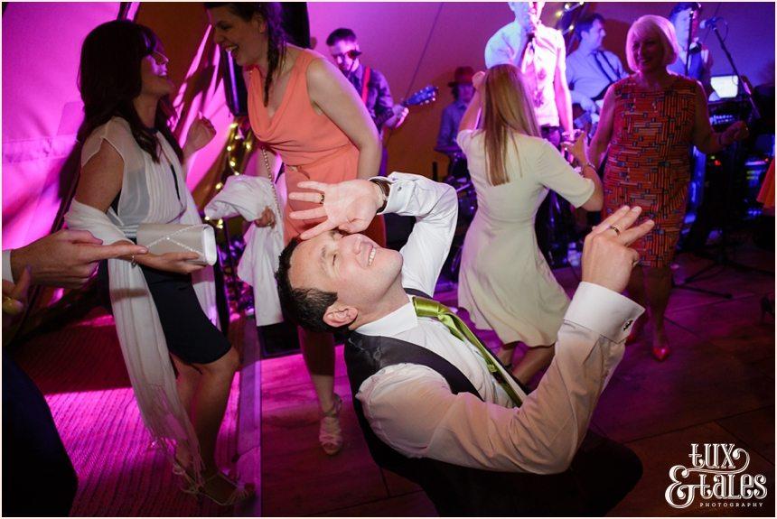 Fun dancing wedding photography Newton Grange
