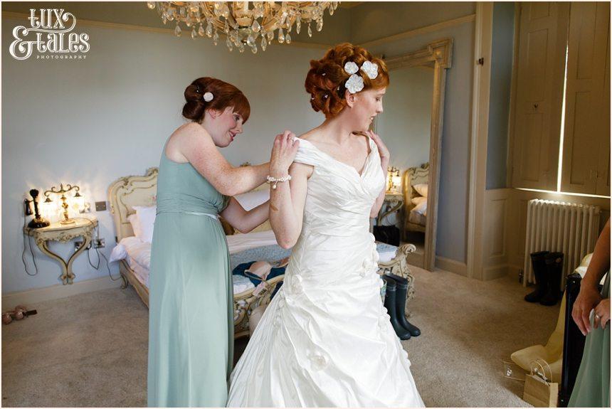 Bride Preparation Photography at Newton Hall beachside wedding
