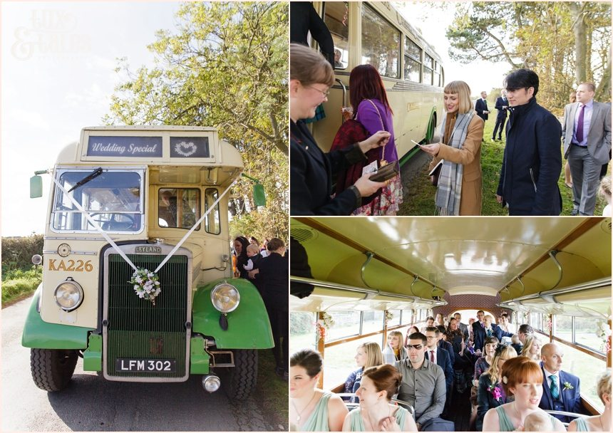 Photography at Newton Hall beachside wedding | Vintage bus