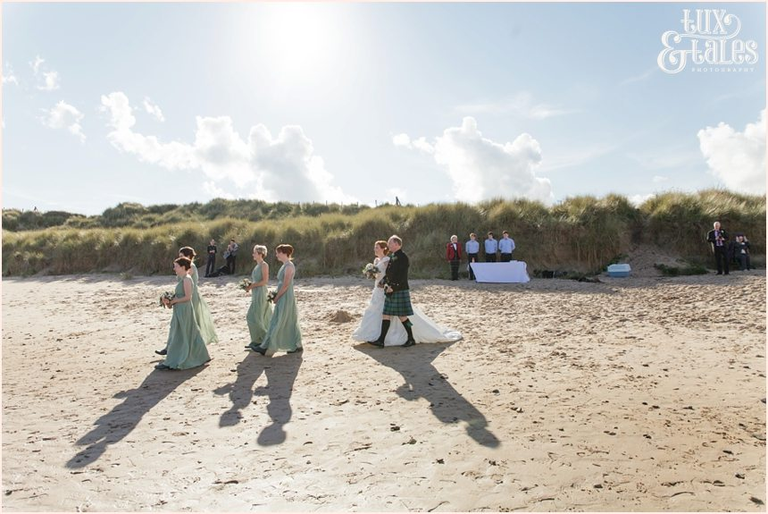 Ceremony Photography at Newton Hall beachside wedding
