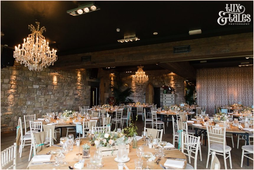 Tartan & beach  themed wedding details at Newton Hall beachside wedding