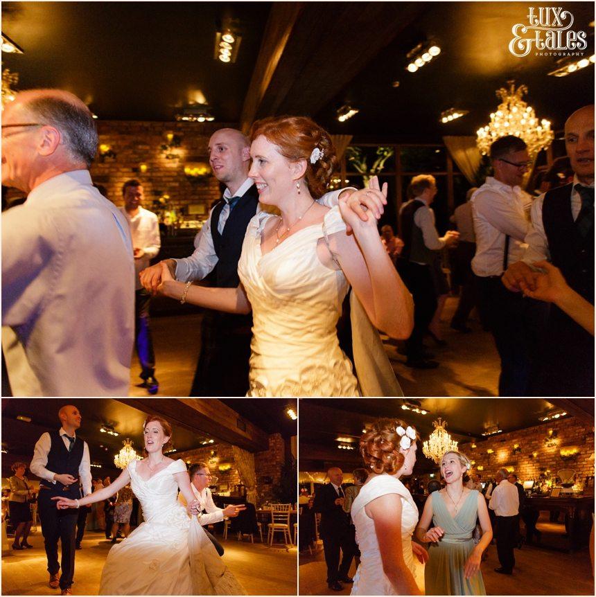 Dancing & partying at Newton Hall beachside wedding
