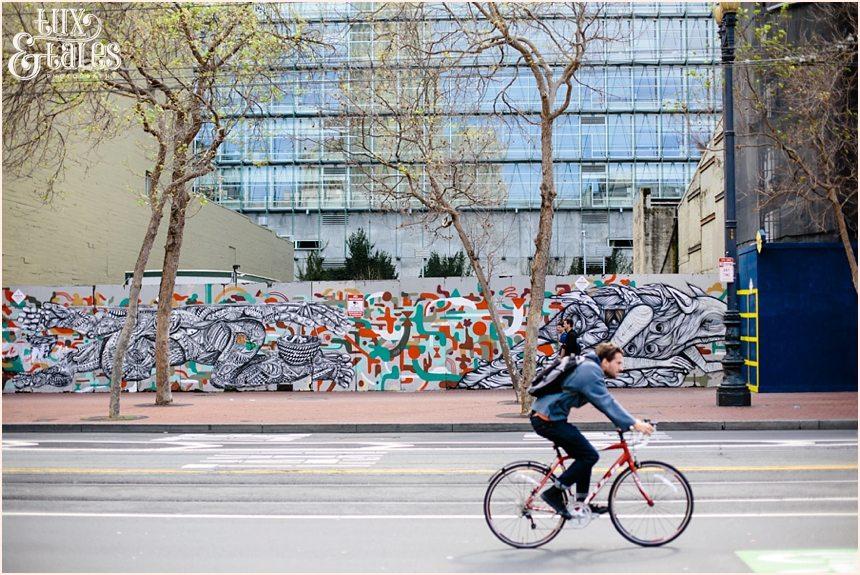San Francisco Photography - Man riding a bike