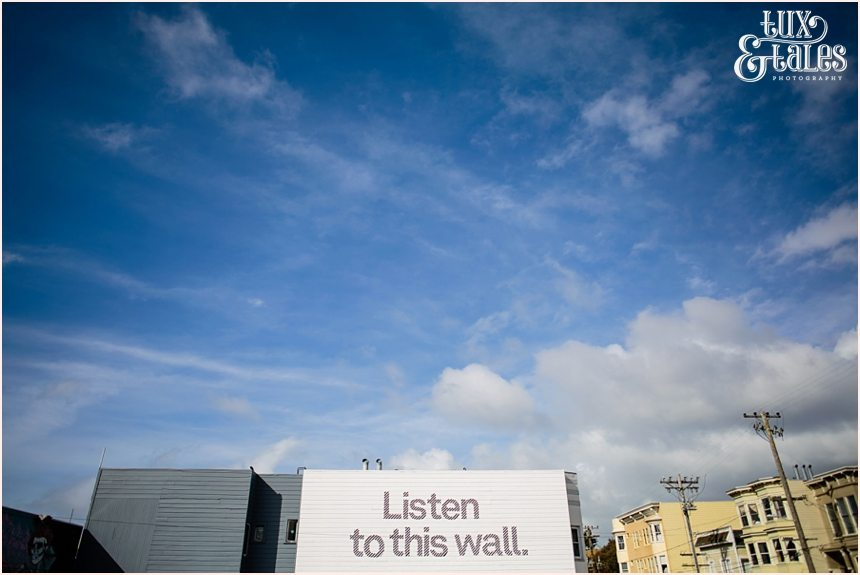 San Francisco Photography - Listen to this wall