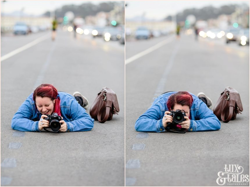San Francisco Photography - Laura Babb photographing in the street