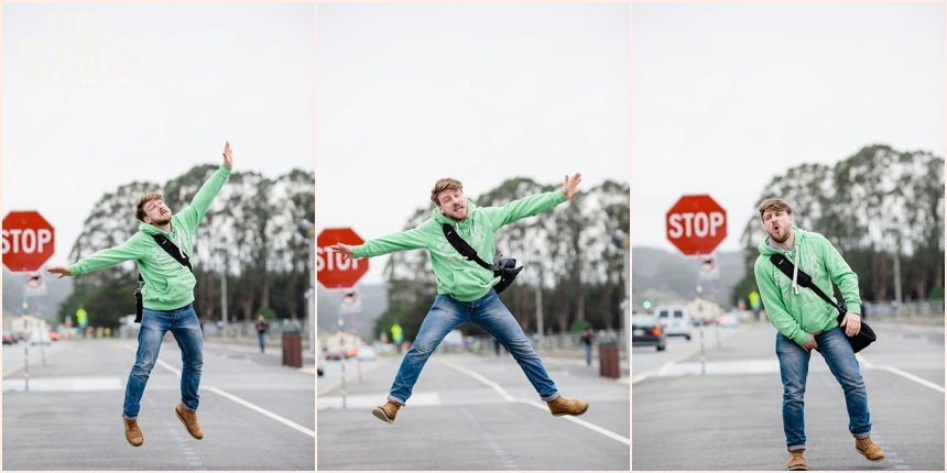 San Francisco Photography - Paul Clapperton jumping silly