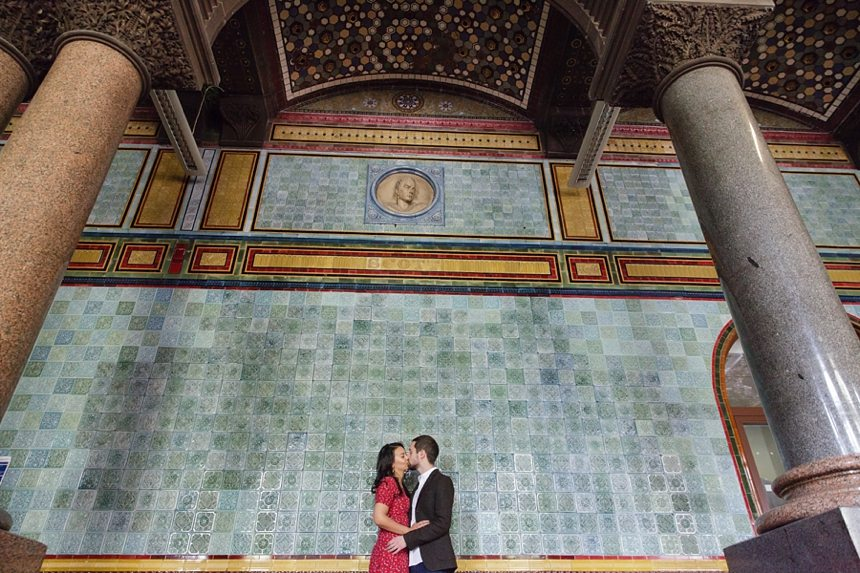 Engagement photography at Leeds Art Gallery