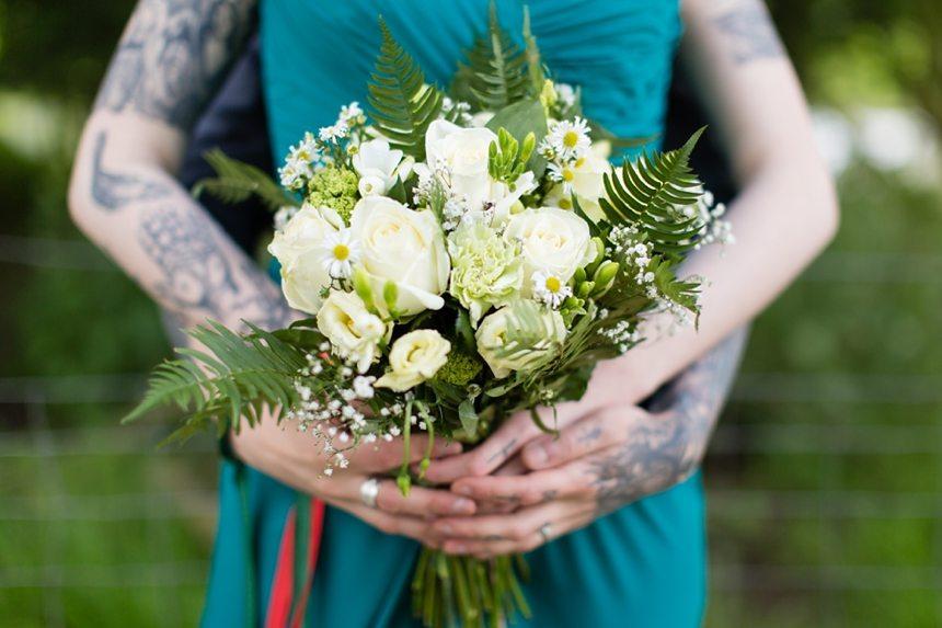 Furtho Manor Farm Wedding Photography Tattooed Bride & Groom