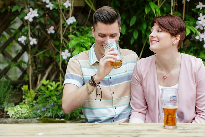 Engagement Photography in Ilkley at The Yard Pub