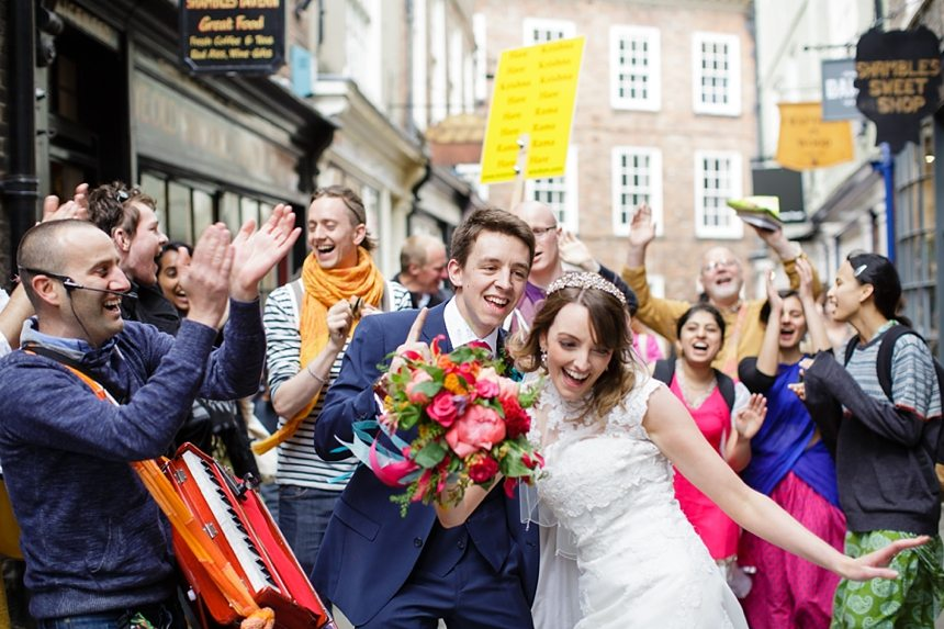 York Wedding Photography Bride & Groom Dance With Hare Krishnas