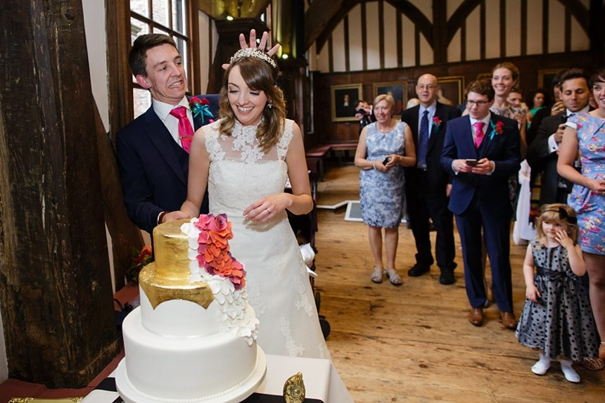 Documentary Wedding Photography at Merchant Adventurers Cake Cutting