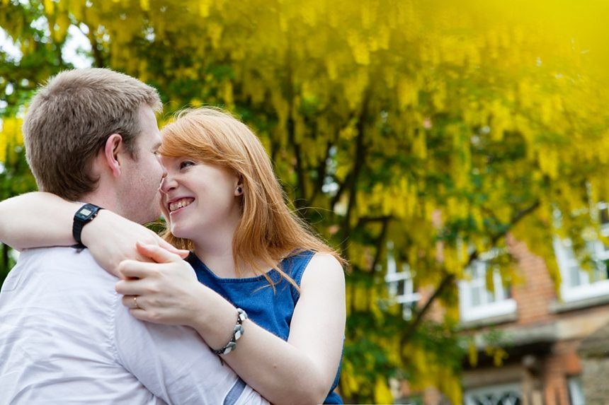 Oxford Engagement Shoot Yellow Flowers
