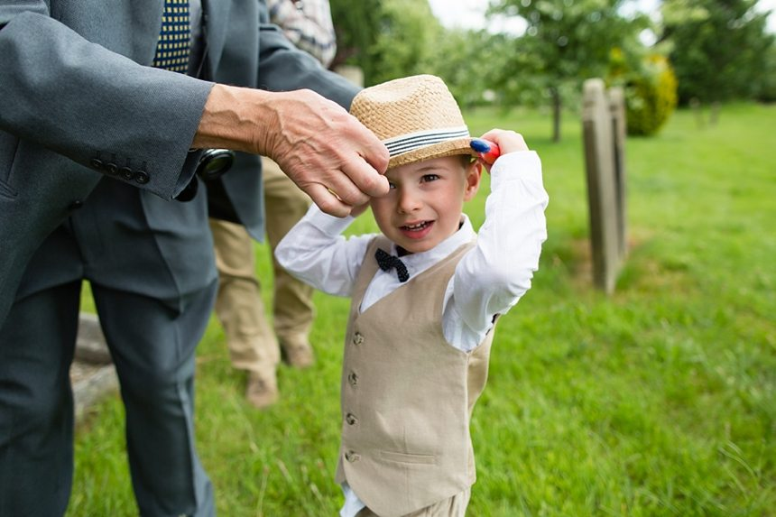 Barmbyfield Barn Wedding Photography St Catherines Church greeting guests