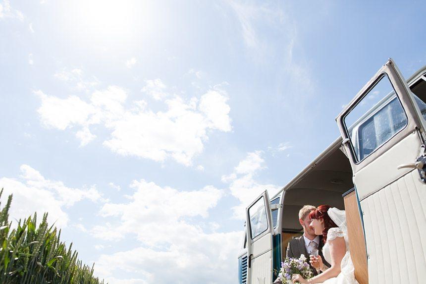 Barmbyfield Barn Wedding Photography VW Van Relaxed informal