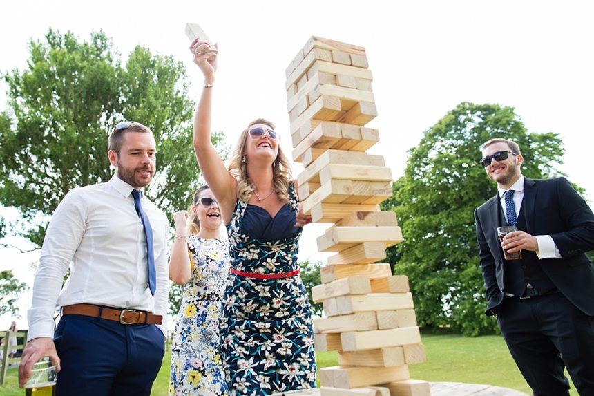 Barmbyfield Barn Wedding Photography Relaxed Informal Lawn Games