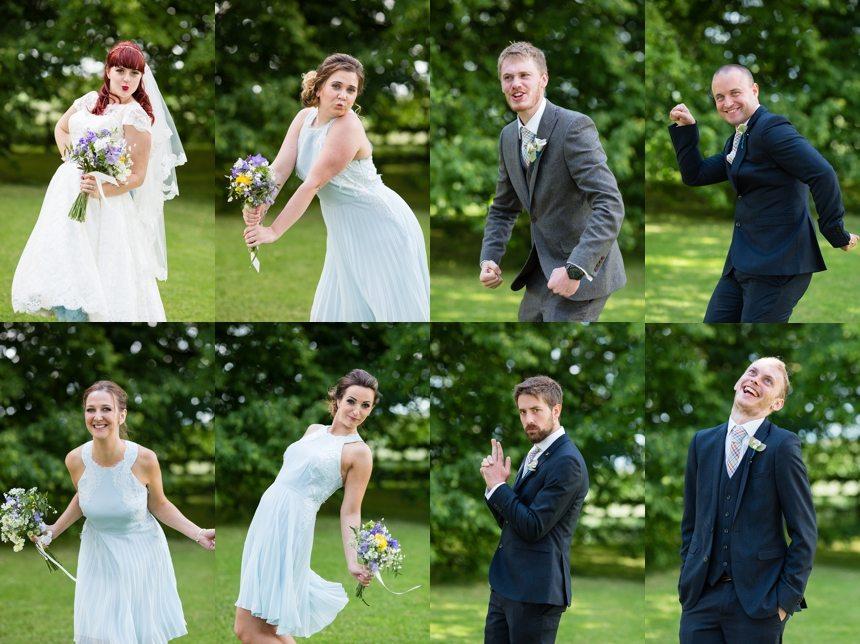 Barmbyfield Barn Wedding Photographer Silly Wedding Party Photos