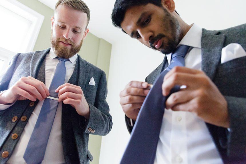 East Riddlesden Hall Wedding Photography Groom Preparation