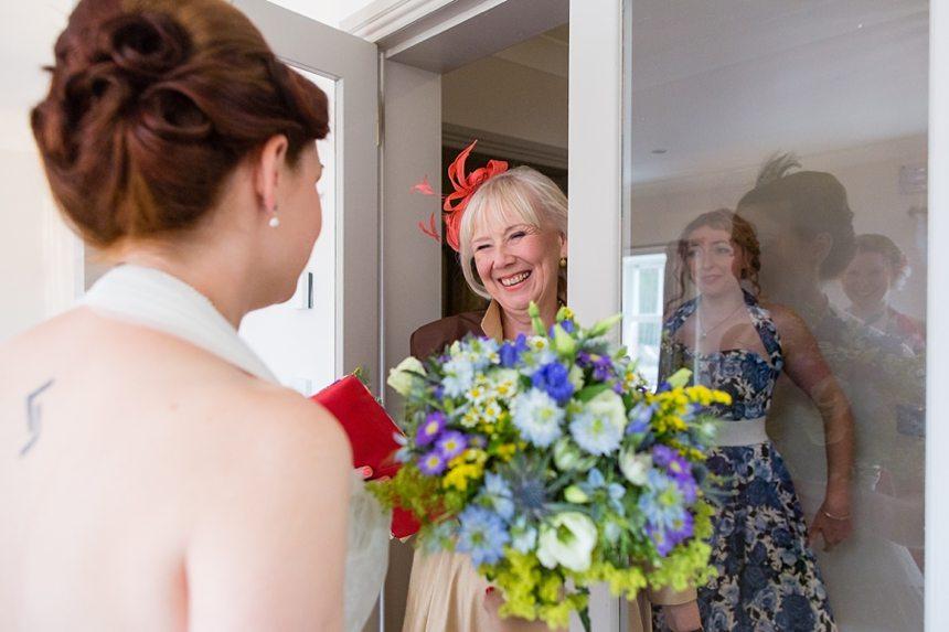 Isle of Arran Documentary Wedding Photography bride & groom preparation brodick castle
