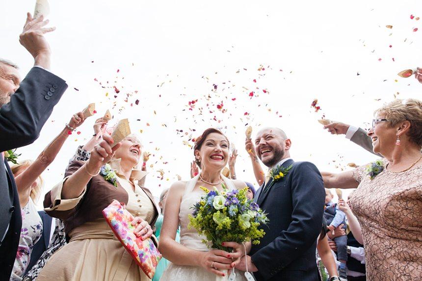 Brodick Castle Wedding Photography Confetti