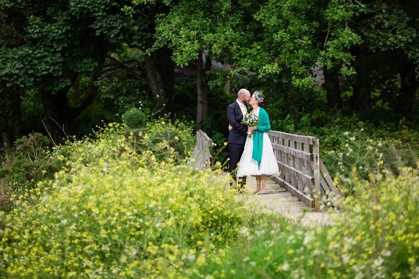 Isle of Arran wedding photography beach portraits of bride & groom