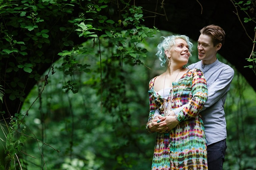 Engagement shoot in Bingley Leeds
