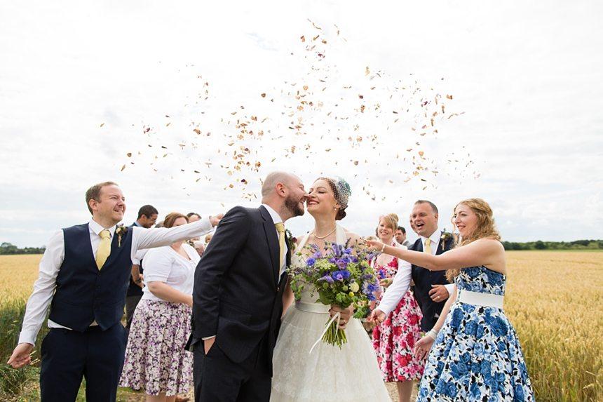 Barmbyfield Barn Wedding Photography confetti