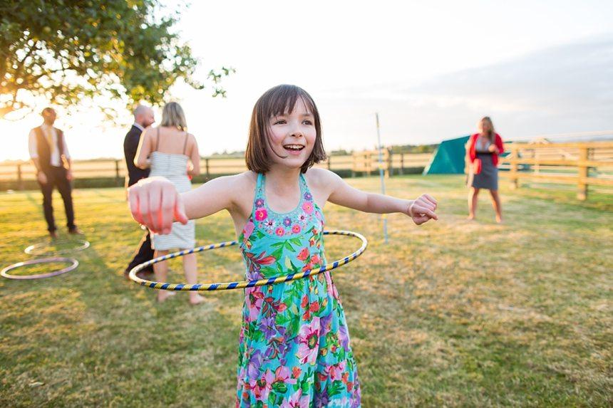 Barmbyfield Barn wedding photography lawn games and hula hoop