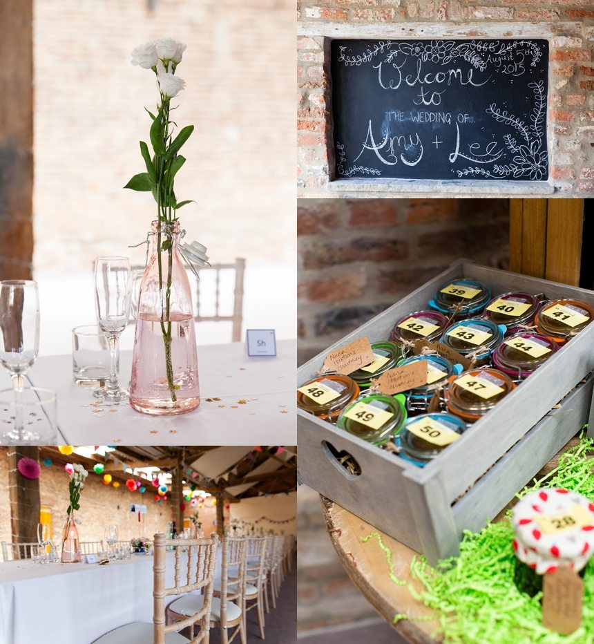Barmbyfield Barn Wedding Photographer Chemistry Themed Wedding Details