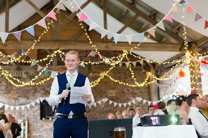 Barmbyfield Barn Wedding Photographer Speeches