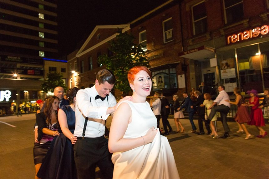 Leeds Club Wedding Photography New York Brass Band Dance in Streets