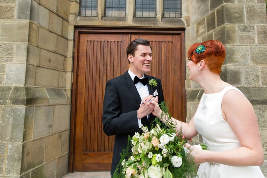Leeds Club Wedding Photography First Look
