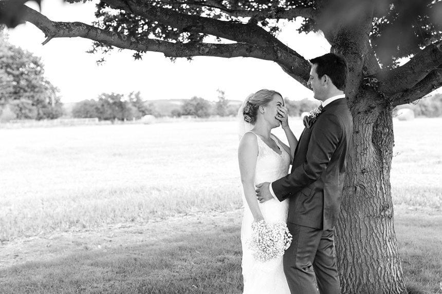 Bride & groom portraits Barmbyfield Barn Wedding Photography