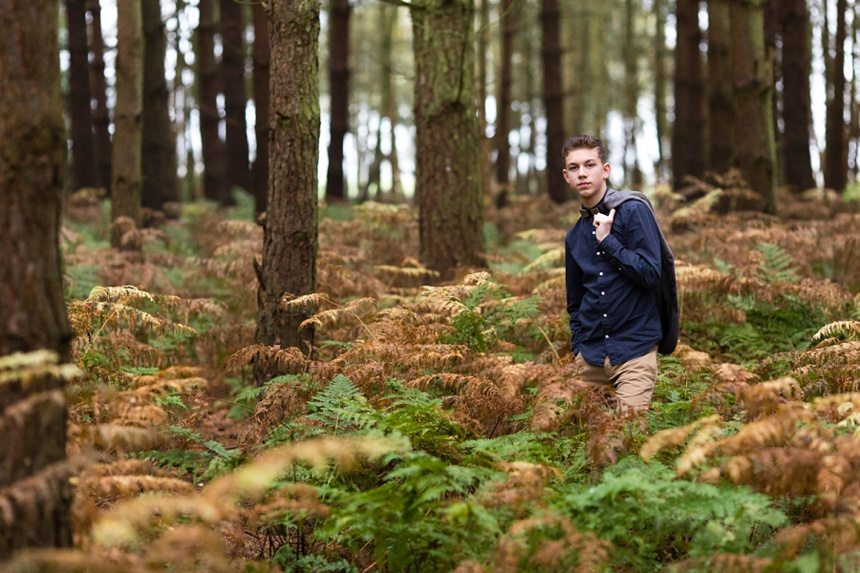 York Portrait Photography in Wheldrake Woods in the fog