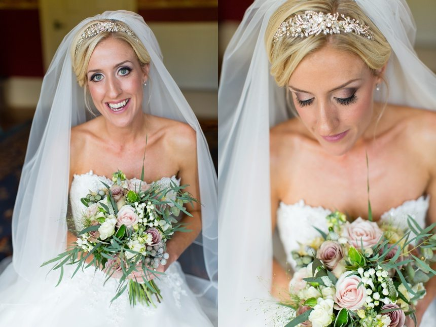 Bride in wedding dress at Crow Hill Wedding Tux & Tales Photography