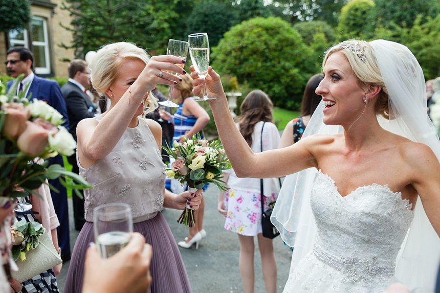 Cheers at Crow Hill Wedding