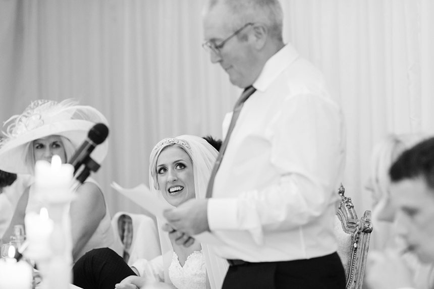 Wedding speeches with fun expressions at Crow Hill Wedding
