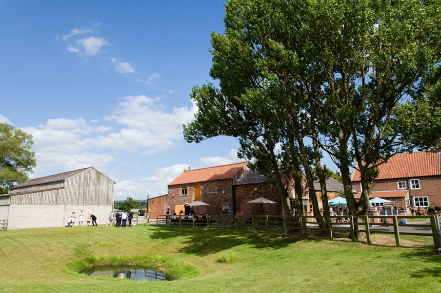 Barmbyfield Barn Wedding Exterior