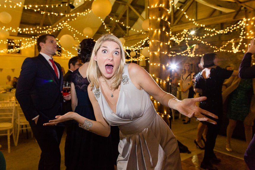 Barmbyfield Barn Wedding guest dancing