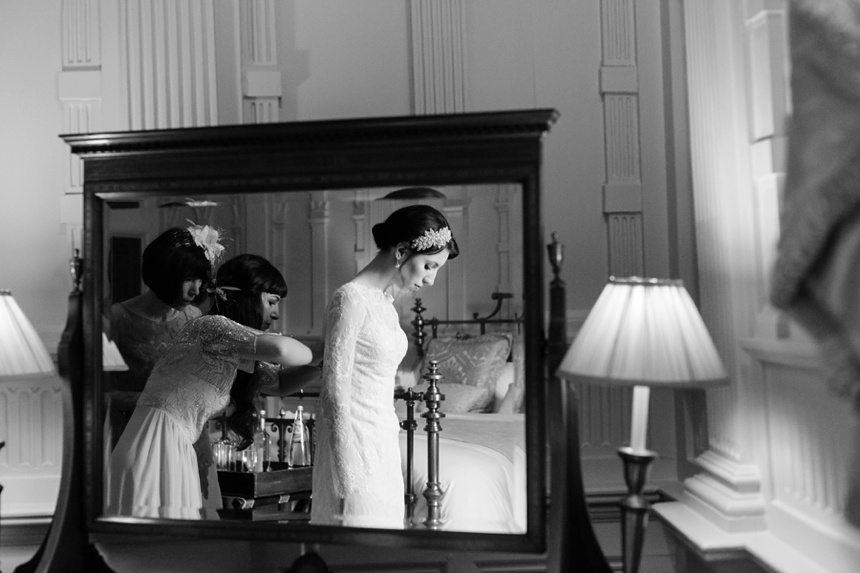 Planning yoru Wedding bride prep getting into wedding dress