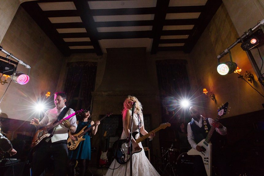 Rock and Roll Wedding Photography bride and groom jam