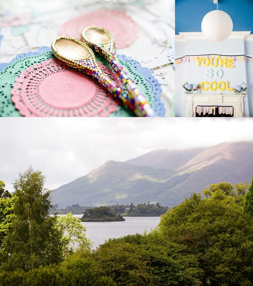 Weddings at Derwentwater Youth Hostel Decorations and Lake