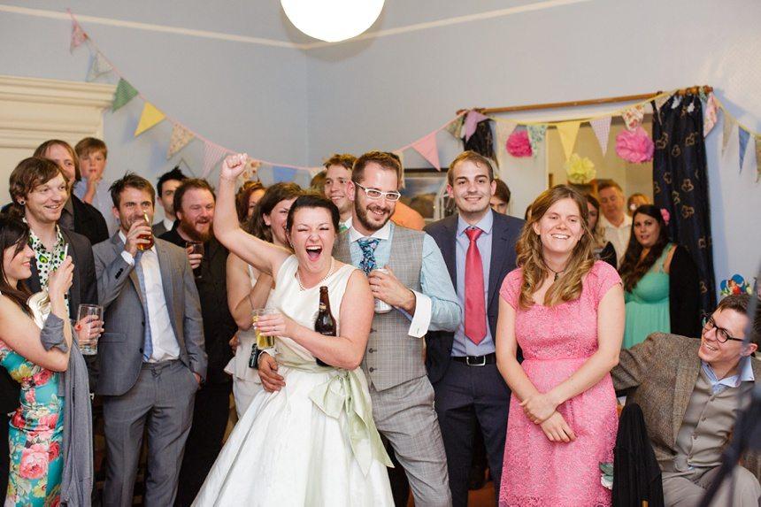 Weddings at Derwentwater Youth Hostel cheering during speeches