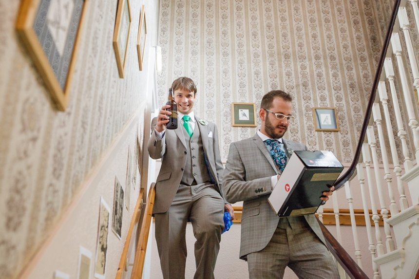 Weddings at Derwentwater Youth Hostel walking down the stairs